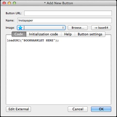 Custom Button for Instapaper