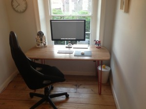 Ercol Desk with hairpin legs