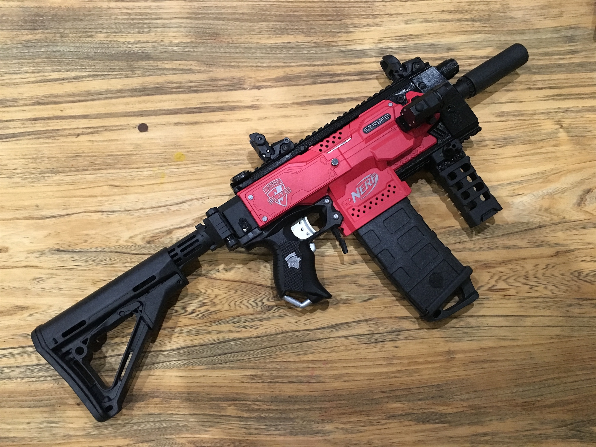 CosmeticsMy Stryfe tacticool project is complete.