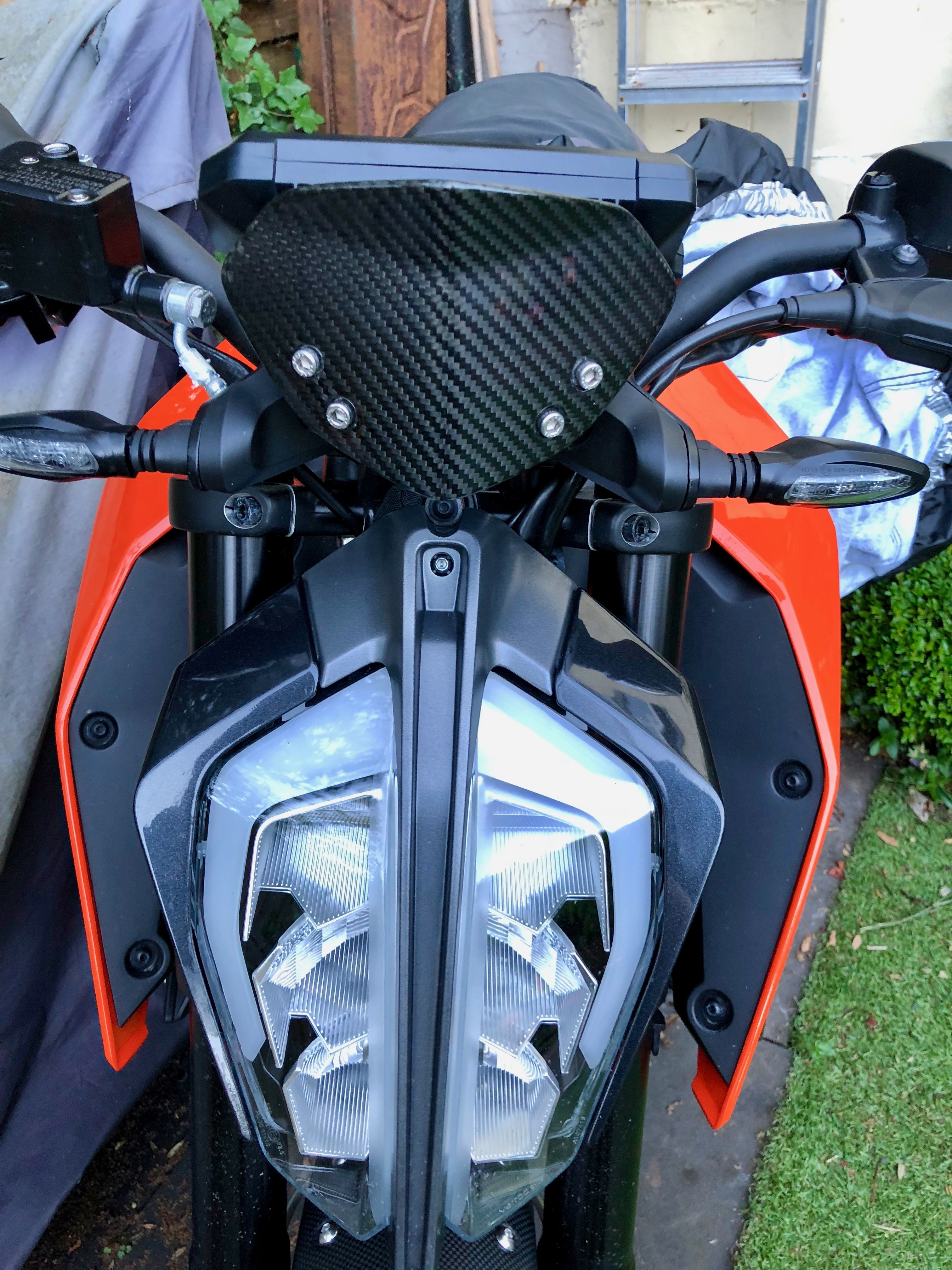 Ktm Duke 390 2017 Carbon Screen Version 2 Gordyhand Co Uk